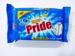 Blue Detergent Bar, Shape: Rectangle, Packaging Size: 250gm