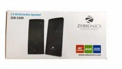 Black ZEB-S300 Zebronics 2.0 Multimedia Speaker