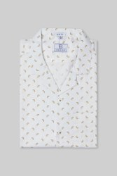 Boros 100% Cotton Lemon Print Mens Shirt, Machine wash