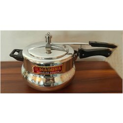 Madona Wrought Aluminium 5 L Handi Pressure Cooker, For Home