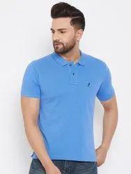 Harbornbay Men Solid Polo Collar T-Shirt