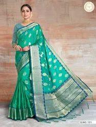 Present New Designing Kanjivaram Good Looking Saree