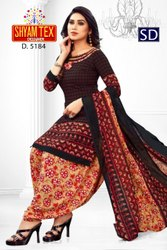 Radhe Krishna Synthetics Printed Dress Material, For More