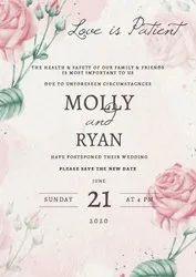 Digital Invitations Card, 1 Leaflet