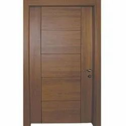 Brown 8 Feet Solid Flush Door, For Home