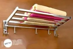 Stainless Steel Ss 202 Towel Rack, For Bathroom, Size: 24