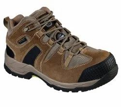 Low Ankle Grain Leather Skechers Safety Shoes, Packaging Type: Box