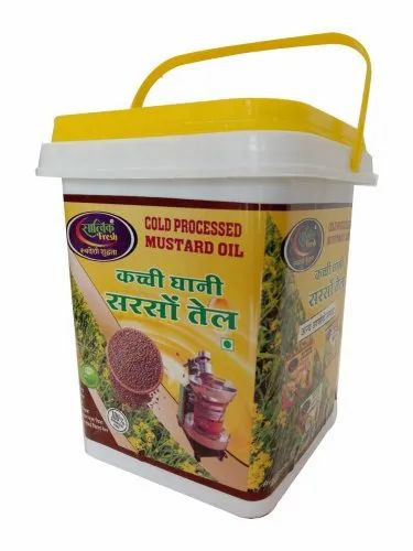 Satvikfresh 5 Litre Cold Processed Mustard Oil, Packaging Type: Plastic Container
