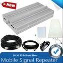 Netboon Tri Band Silver Cellphone Network Enhancer 2G 3G 4G - Coverage 1500 Sq. Feet