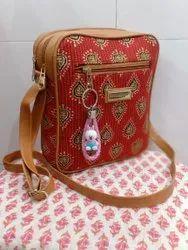 Handbags Assorted Designer Ikkat Sling Bags