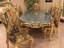 Dimensions: 7x3ft More Then 100 Kg Marble Dining Table