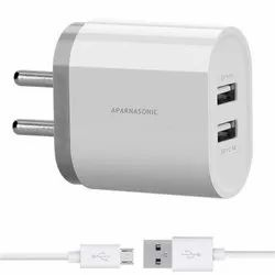 Abs Aparnasonic 4.1 A Dual USB Smart Mobile Charger, Model Name/Number: 4.1au Pd