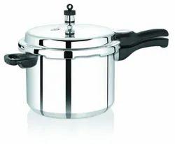 Silver Aluminium Pressure Cooker, For Kitchen, Capacity: 8L