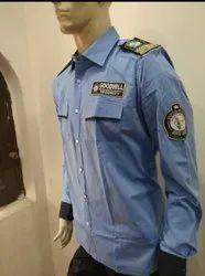 Buy Uniforms Blue Cotton Security Guard Uniform, Size: S To Xxl