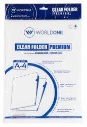 L Shape Clear Folders