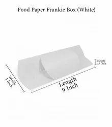 Gujarat Packaging White,Brown Food Paper Frankie Box