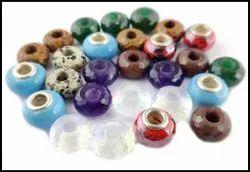 Gemstone Rondelle 14x8mm Big Hole Beads With 5mm Hole
