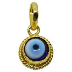 SSGJ Evil Eye Golden Locket Evil Eye Silver Locket
