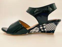 Party Wear Black Ladies Sandal, Size: 5