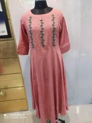 Cotton Casual Wear Ladies Anarkali Kurti
