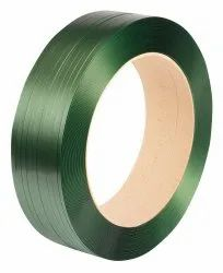 Plain Green PET Strap Roll, For Packaging