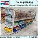 Metal Double Sided Display Rack, For Supermarket