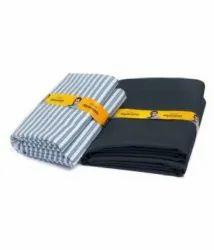 Plain Black & Blue Siyaram Trovin Fabric