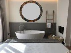 IEEDEE Designer Luxrel Round Glass Mirror, For Bathroom, Size: 18x18 Inch