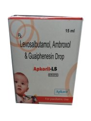 Levosalbutamol, Ambroxol & Guaiphenesin Drop, Packaging Size: 15 Ml