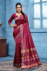 Present Lichi Silk Good Looking Designer Saree