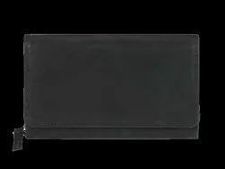 Ladies Black Leather Clutch