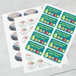 Paper Sticker Printing, For Label, 4 Col