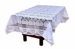 Knitted Polyester Rectangular Lotus Table Cover, Size: 40x60 Inches