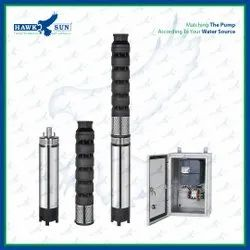 6 5HP AC CI Solar Submersible Pump With Controller