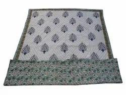 Block Print Reversible Cotton Quilt