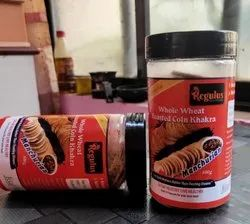 REGULUS 41 FLAVORS Whole Wheat Roasted Coin Khakhra, 3 Month, Packaging Size: 100 Gm