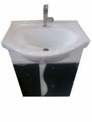 Ceramic Wall Mounted 22 Inch Designer Wash Basin, For Bathroom