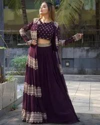 PRESENT GEOGATTE WITH HEAVY EMBROIDERY WORK FANCY DRESS