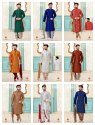 Designer Dupion Silk Festive Wear Kurta With Dhoti Mens Wear Catalog Collection