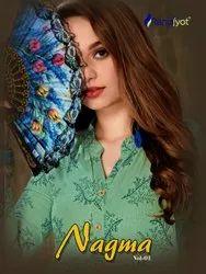 Formal Wear Straight Nagma Vol-1 Kurti With Sharara, Wash Care: Dry clean