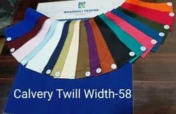 Calvery Cotton Twill Dyed Fabric, Plain/Solids