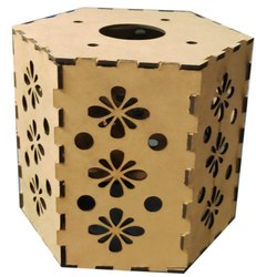 Designer Hexagonal Shaped Lantern, Packaging Type: Packet, Size: 175 Mm X 130 Mm