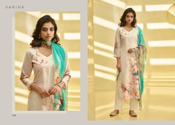 Cotton Fancy Printed Straight Salwar Suit