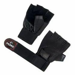 黑色佩斯科健身房手手套
