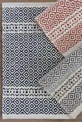 Printed Hand Weave Cotton Designer Carpet, Size: 2 X 5 Feet