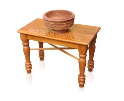 Wooden Multipurpose Bench & Oil Vessel