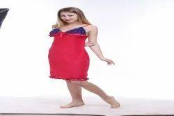 Net Ladies Designer Baby Doll Nighty, Size: Large
