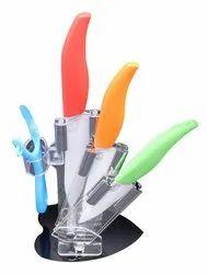 Multicolor iLife Ceramic 5 Piece Kitchen Knife Set