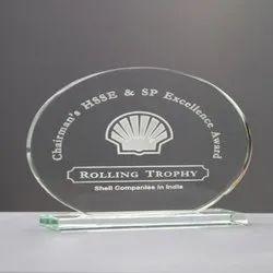 Round Glass Trophy