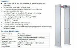 3 Zone Door Frame Metal Detector